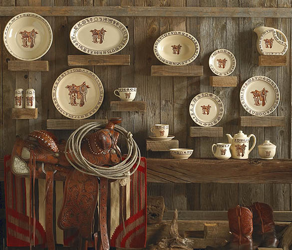 Boots \u0026 Saddle Ranch Style Cowboy Dinnerware & Boots and Saddle Western Dinnerware- Ranch Style Cowboy Dishes by ...