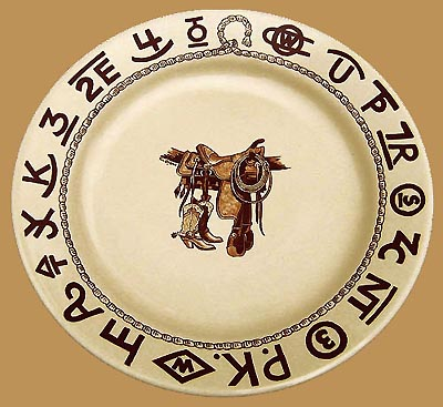 Boots & Saddle Lunch Plate, 9 1/2""