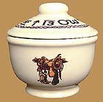 Boots & Saddle Pattern Sugar Bowl with Lid