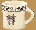 BS17 Boots & Saddle Pattern Texas Mug