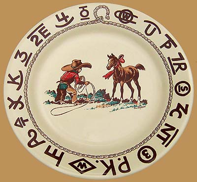 """Christmas Lunch Plate, 9 1/2"""""""