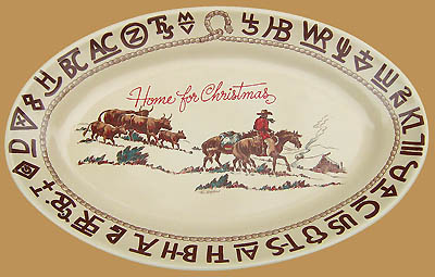 Christmas Large Oval Serving Platter, 16""