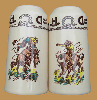 "Rodeo Salt & Pepper Set, 5"" x  2 1/2"""