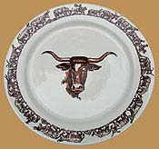 LH06 Longhorn Pattern Lunch Plate