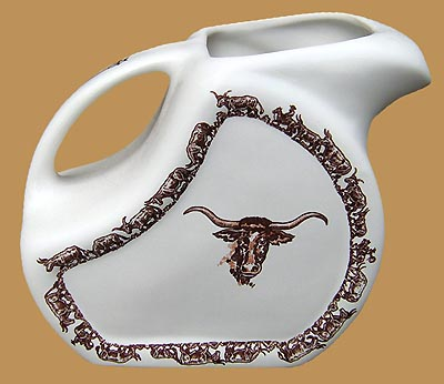 "Longhorn Water / Ice Tea Pitcher, 72 oz., 8"" x 5"""