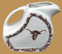 LH15 Longhorn Pattern Water / Ice Tea Pitcher