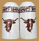 Longhorn Pattern Salt & Pepper Shakers