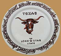 LH18 Longhorn Pattern Special Edition Texas Dinner Plate