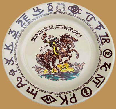 Rodeo Little Buckaroo Plate, 9 1/2""