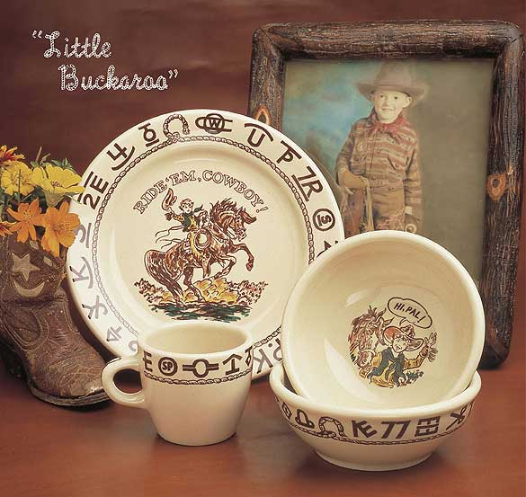 Little Buckaroo Children\u0027s Cowboy Dinnerware & Little Buckaroo Children\u0027s Cowboy Chuckwagon Dinnerware Set ...