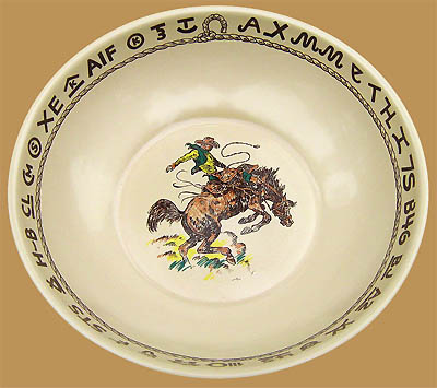 "Rodeo Bonanza Bowl, 13"" wide, 4"" deep"