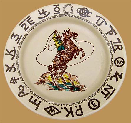 Rodeo Lunch Plate, 9 1/2""