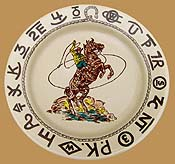 RD06 Rodeo Pattern Lunch Plate