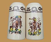 RD08 Rodeo Pattern Salt & Pepper Shakers
