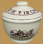 RD09 Rodeo Pattern Sugar Bowl with Lid